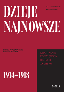 Dzieje Najnowsze : [kwartalnik poświęcony historii XX wieku] R. 46 z. 3 (2014), Title pages, Contents