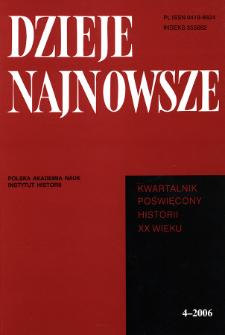Dzieje Najnowsze : [kwartalnik poświęcony historii XX wieku] R. 38 z. 4 (2006), Recenzje