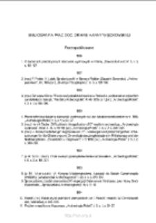 Bibliografia prac doc. dr hab. Hanny Więckowskiej