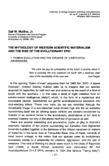 The mythology of Western scientific materialism and the rise of the evolutionary epic