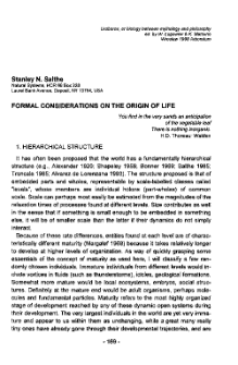 Formal considerations on the origin of life
