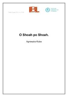 O Shoah po Shoah