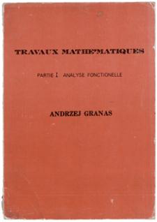 Travaux mathématiques. P. 1. Analyse fonctionelle