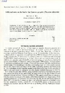 Additional notes on the food of the Common porpoise (Phocoena phocoena)