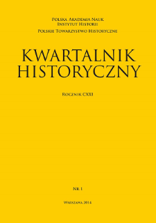 Kwartalnik Historyczny R. 121 nr 1 (2014), Artykuły recenzyjne i recenzje