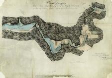 Plan sytuacyjny jeziora Szlamy i strugi Szlamicy do rzeczki Marychy wpadaiącey przez które wody rzeki Hańczy od Kanału Augustowskiego do Niemna odwrócone bedą