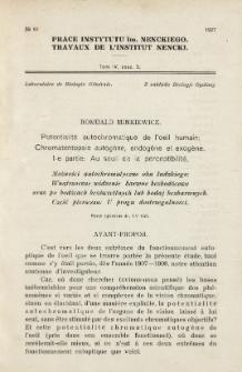 Prace Instytutu im. M. Nenckiego, Tom IV Nr 3/4