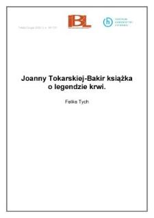 Joanny Tokarskiej-Bakir książka o legendzie krwi