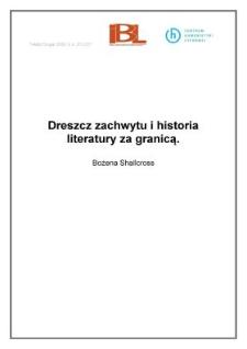Dreszcz zachwytu i historia literatury za granicą