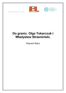 Do granic. Olga Tokarczuk i Władysław Strzemiński