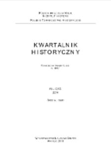 Kwartalnik Historyczny R. 121 (2014), Special Issue, Strony tytułowe, Spis treści