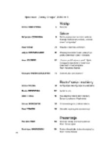 Teksty Drugie Nr 4 (2009),Spis treści