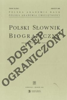 Polski słownik biograficzny T. 49 (2013-2014), Szpilowski (Szpilewski) Hilary - Szyjewski Andrzej Mikołaj, Część wstępna