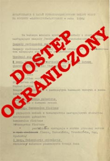 Sprawozdanie z badań fitosocjologicznych w dolinie Wisły na odcinku Sandomierz - Zawichost w roku 1950