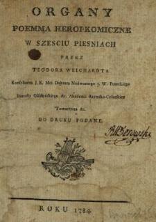 Organy : Poemma Heroi-Komiczne W Szesciu Piesniach
