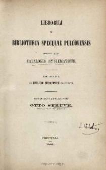 Librorum in bibliotheca speculae Pulcovensis contentorum catalogus systematicus. Ps 2
