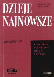 Dzieje Najnowsze : [kwartalnik poświęcony historii XX wieku] R. 23 z. 3 (1991), Strony tytułowe, spis treści