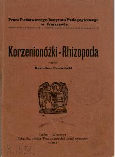 Korzenionóżki-Rhizopoda : z metodyki i techniki protozoologii