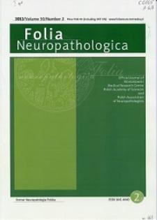 Folia Neuropathologica : former Neuropatologia Polska Vol.50 (2012) nr 2