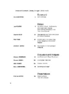 Teksty Drugie Nr 5 (2009), Index of Content
