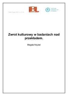 Zwrot kulturowy w badaniach nad przekładem