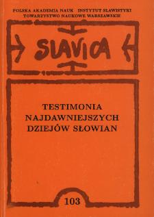 Testimonia najdawniejszych dziejów Słowian : seria grecka. Z. 3, Pisarze z VII-X wieku