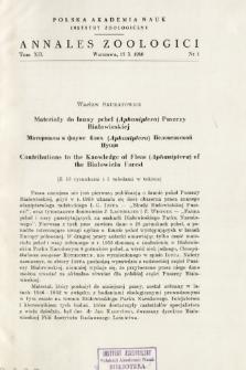 Studien über die polnischen Arten der Gattung Camponotus MAYR (Hymenoptera, Formicidae) = Badania nad krajowymi gatunlkami z rodzaju Camponotus MAYR (Hymenoptera, Formicidae)