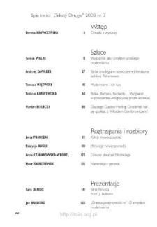 Teksty Drugie Nr 3 (2008), Spis treści