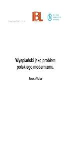 Wyspiański jako problem polskiego modernizmu