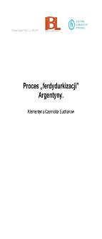 """Proces """"ferdydurkizacji"""" Argentyny"""