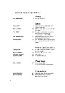 Teksty Drugie Nr 5 (2008), Spis treści
