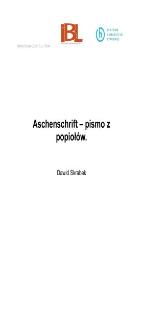 Aschenschrift – pismo z popiołów