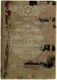 Artaria's Eisenbahnkarte von Österreich-Ungarn mit stationsverzeichnis
