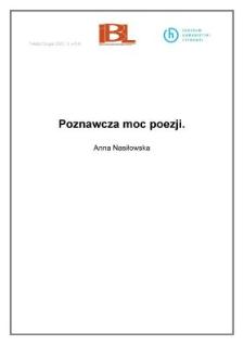 Poznawcza moc poezji