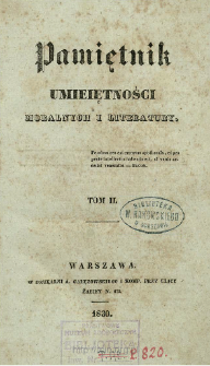 Pamiętnik Umiejętności Moralnych i Literatury. T. 2