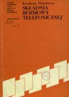 Składnia rozmowy telefonicznej