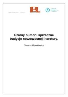 Czarny humor isprzeczne tradycje nowoczesnej literatury