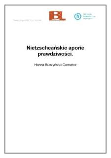 Nietzscheańskie aporie prawdziwości