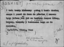 Kartoteka Słownika Gwar Ostródzkiego, Warmii i Mazur; Bankiet - Biec