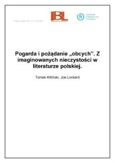"""Pogarda ipożądanie """"obcych"""". Z imaginowanych nieczystości wliteraturze polskiej"""