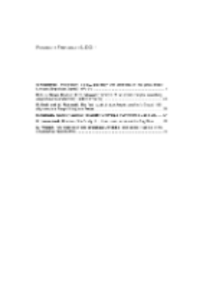 Fragmenta Faunistica - Spis treści vol. 49, no. 1