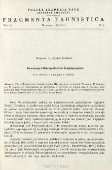 Krocionogi (Diplopoda) Gór Świętokrzyskich