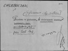 Kartoteka Słownika Gwar Ostródzkiego, Warmii i Mazur; Chleboczek - Chory