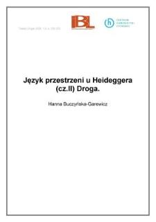Język przestrzeni u Heideggera (cz. II) Droga