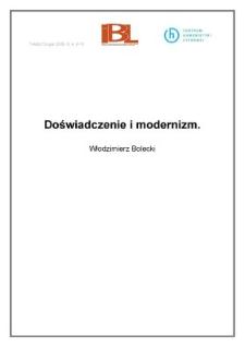 Doświadczenie i modernizm (wstęp)