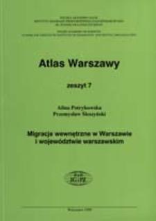 Migracje wewnętrzne w Warszawie i województwie warszawskim
