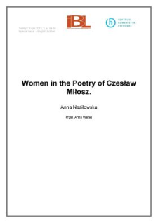 Women in the Poetry of Czesław Miłosz