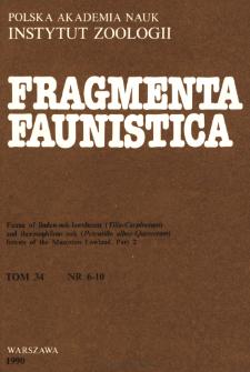 Fragmenta Faunistica - Strony tytułowe, spis treści - t. 34, nr. 6-10 (1990)