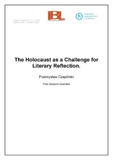 The Holocaust as a Challenge for Literary Reflection