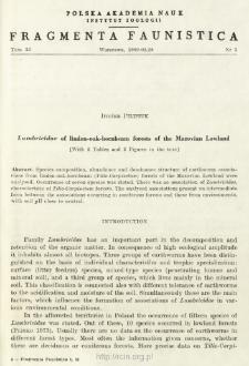 Lumbricidae of linden-oak-hornbeam forests of the Mazovian Lowland